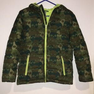 Faded Glory Jackets & Coats - Faded Glory boys winter puffer Coat w/hoodxl 14-16